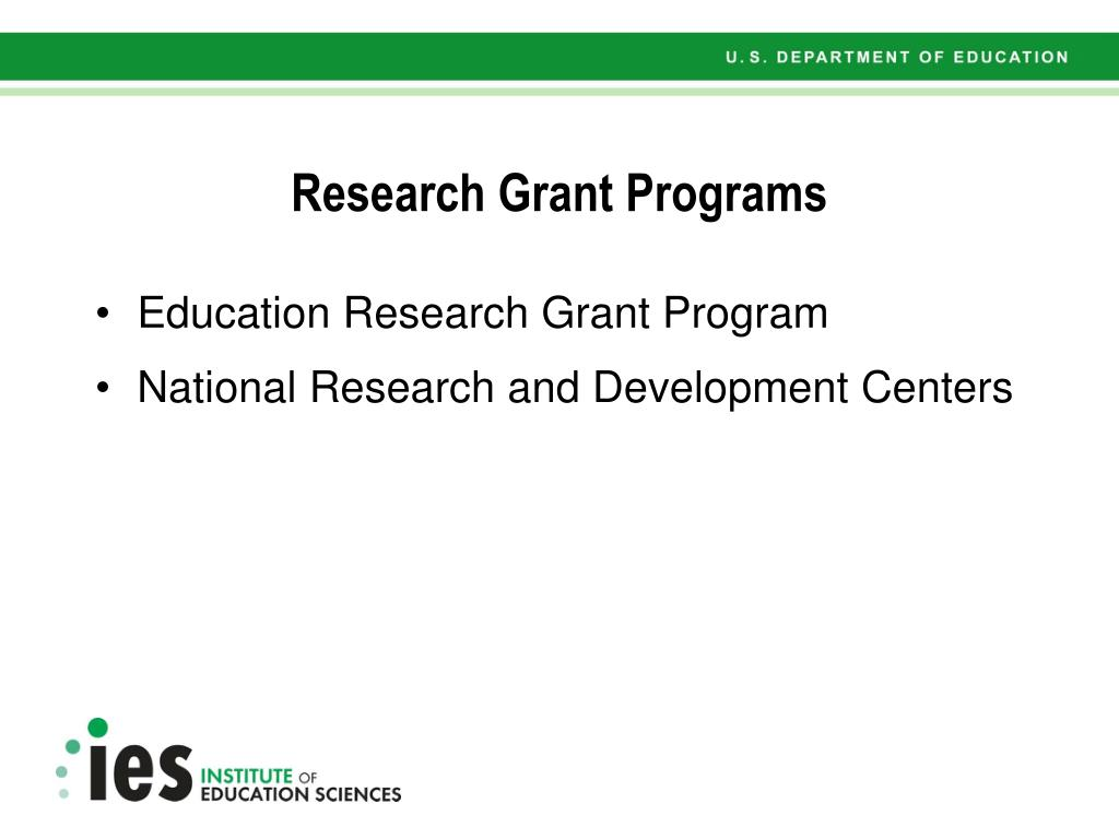 Research Grant Programs