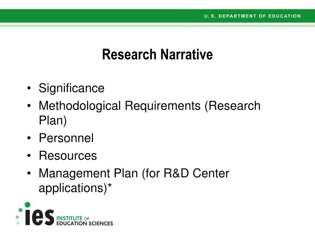 Research Narrative