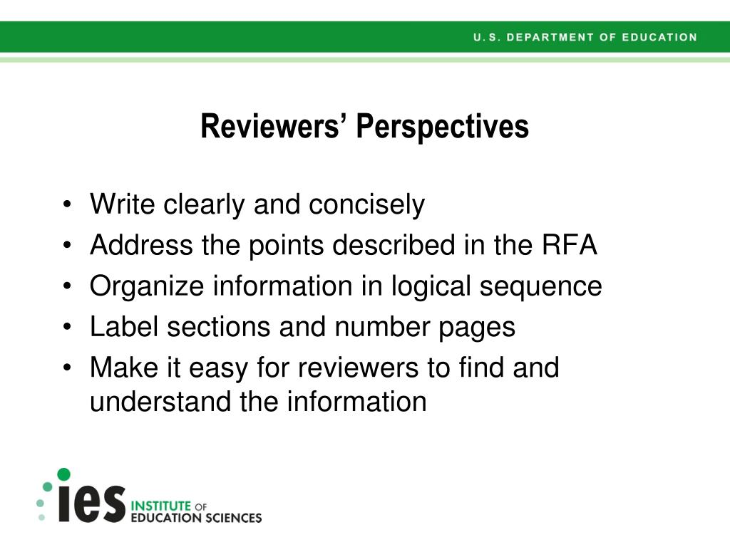 Reviewers' Perspectives