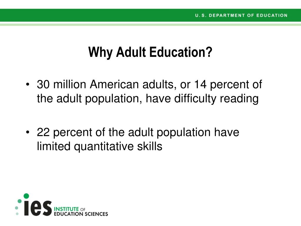 Why Adult Education?