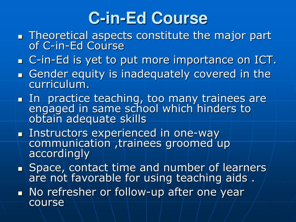 C-in-Ed Course