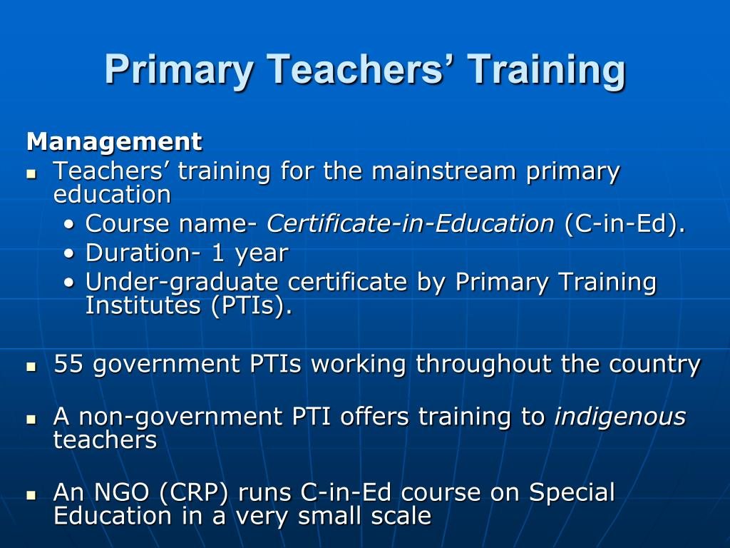 Primary Teachers' Training