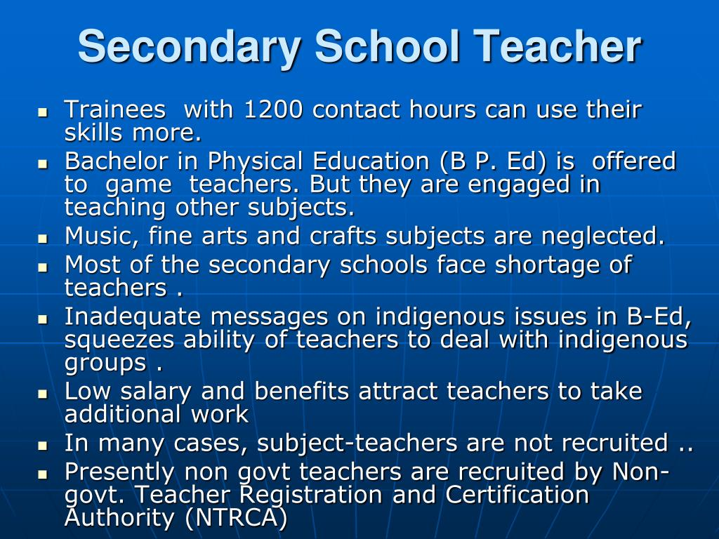 Secondary School Teacher