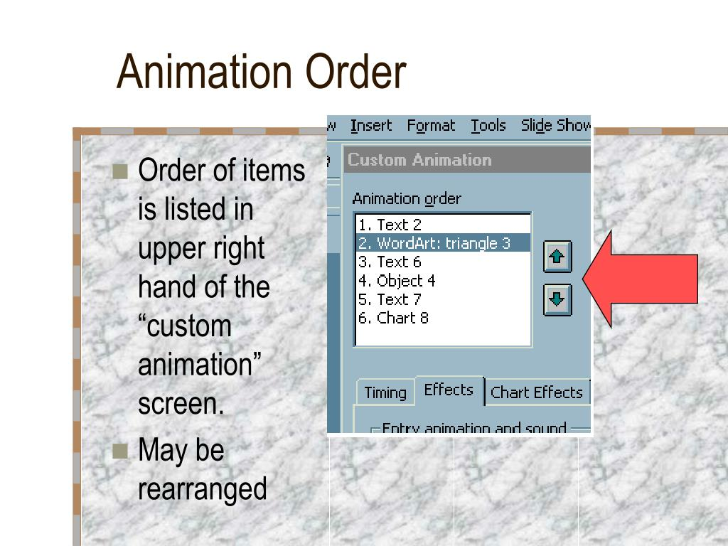 Animation Order