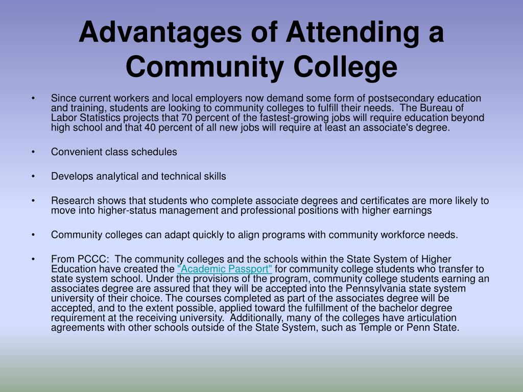 Advantages of Attending a Community College