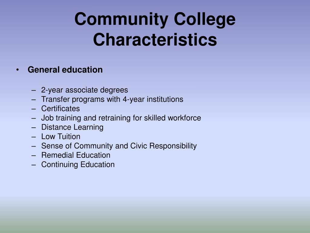 Community College Characteristics