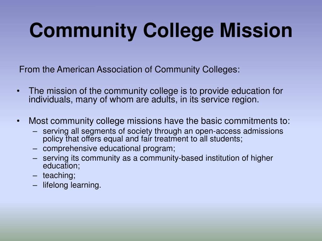 Community College Mission
