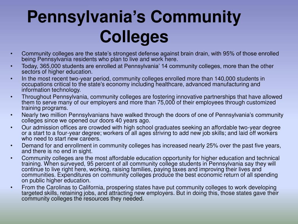 Pennsylvania's Community Colleges