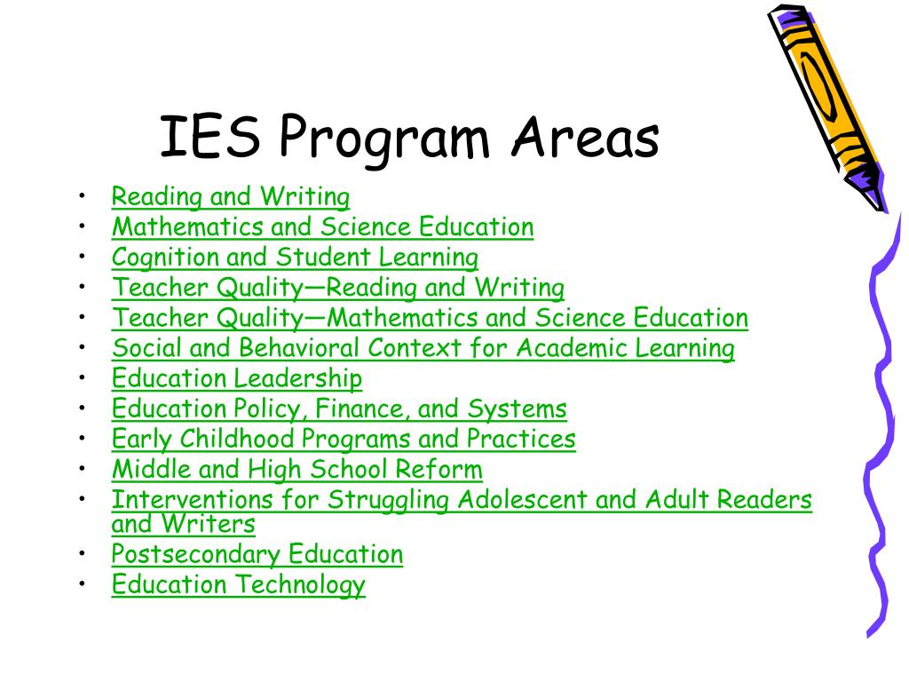 IES Program Areas