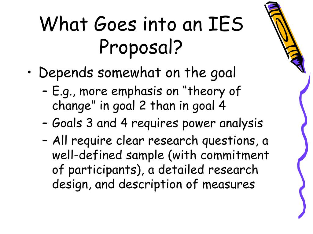 What Goes into an IES Proposal?