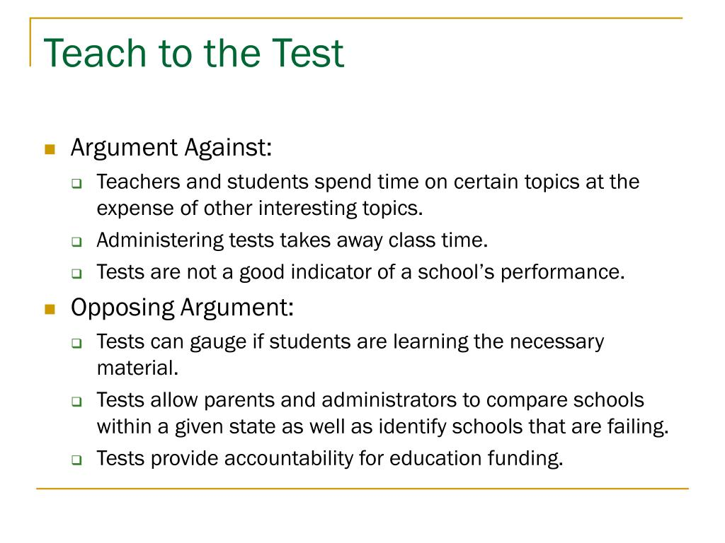 Teach to the Test