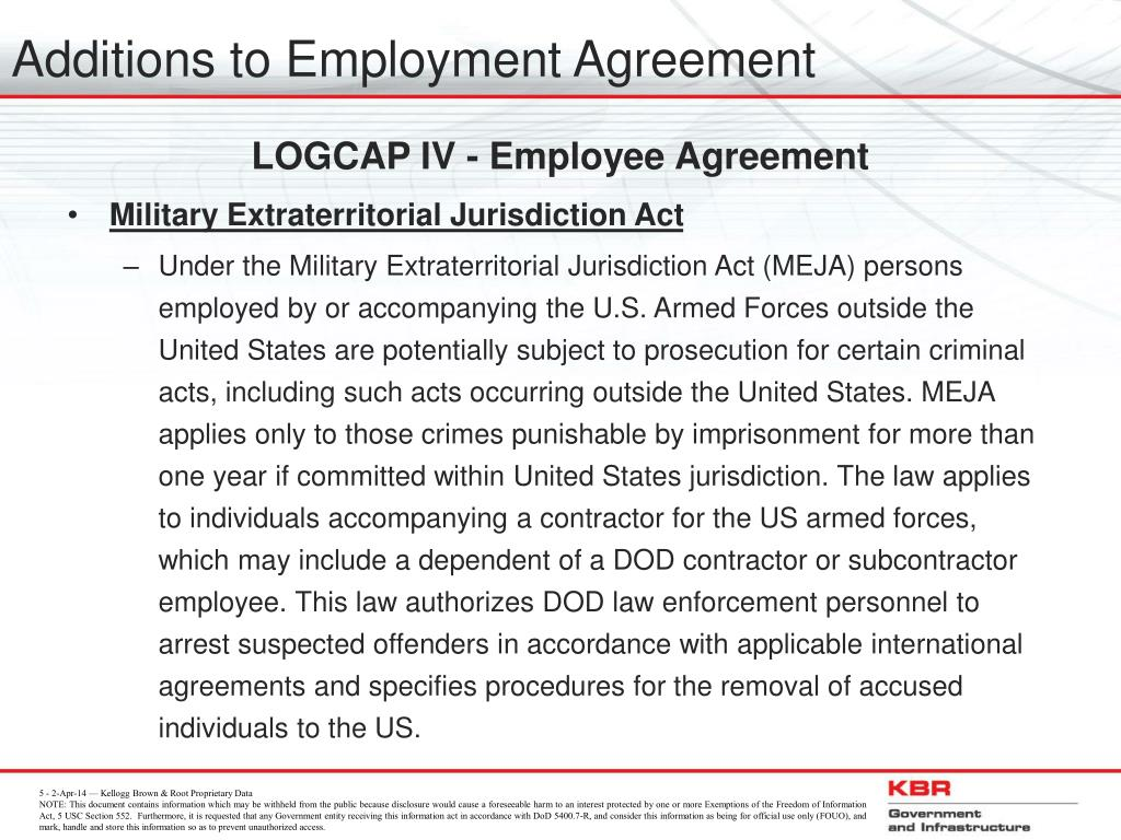 Additions to Employment Agreement