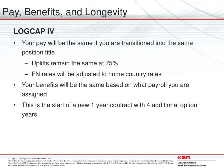 Pay benefits and longevity