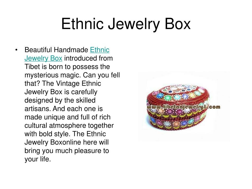 Ethnic Jewelry Box