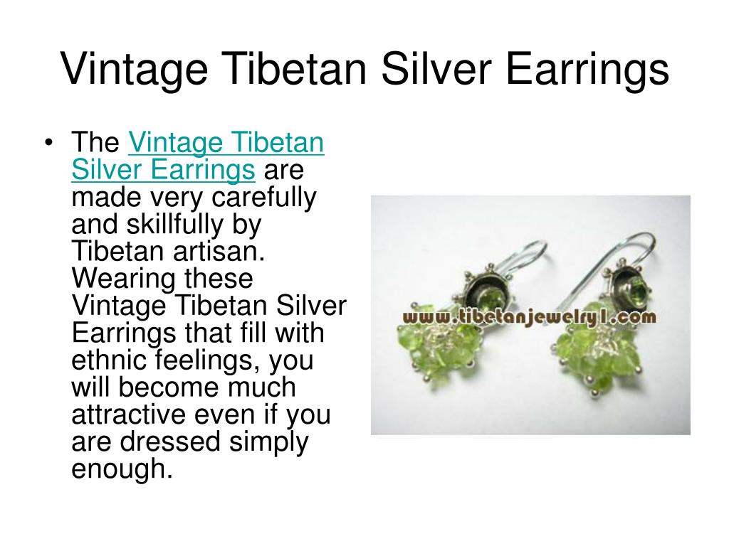 Vintage Tibetan Silver Earrings