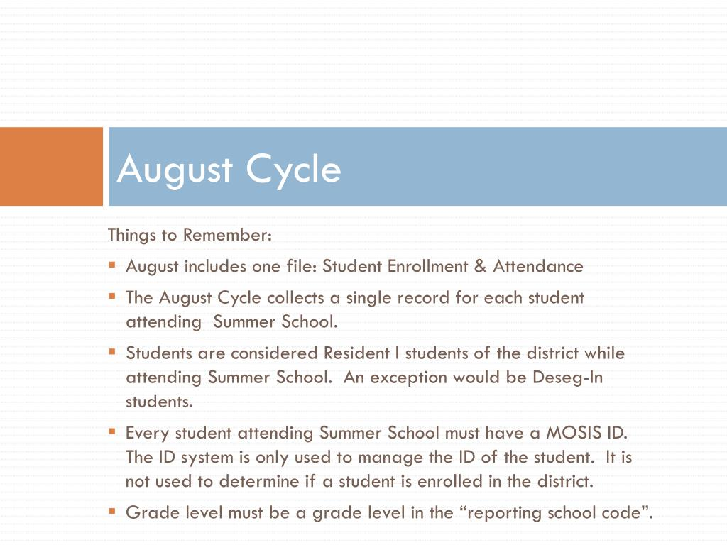 August Cycle