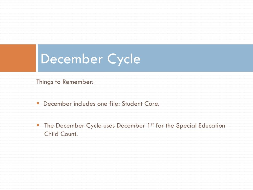 December Cycle