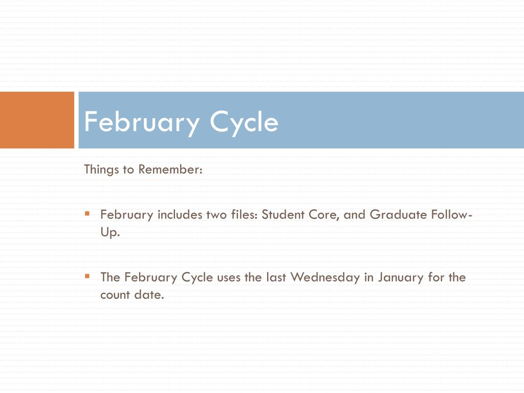 February Cycle