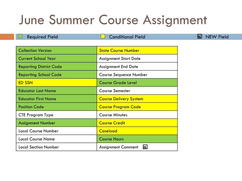 June Summer Course Assignment