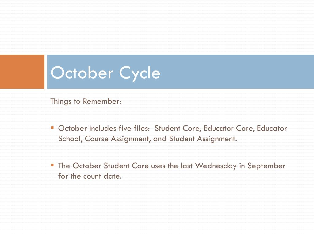 October Cycle