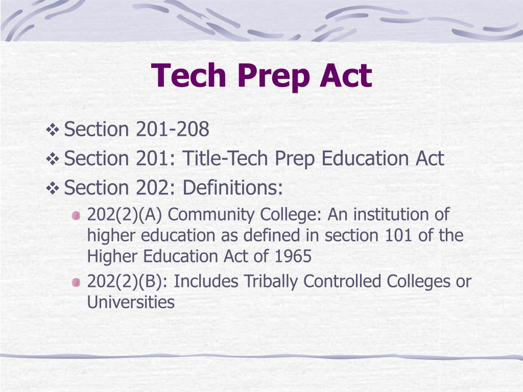 Tech Prep Act