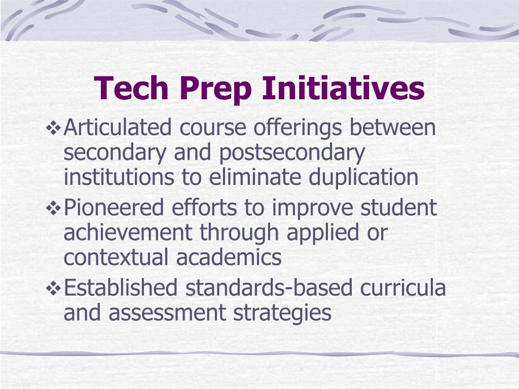 Tech Prep Initiatives