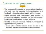 assessment and progression21