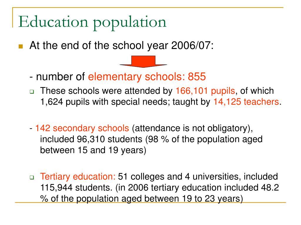 Education population