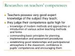 researches on teachers competences