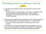 teaching process at primary schools14
