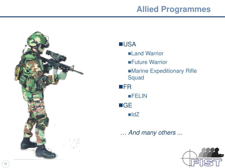 Allied Programmes