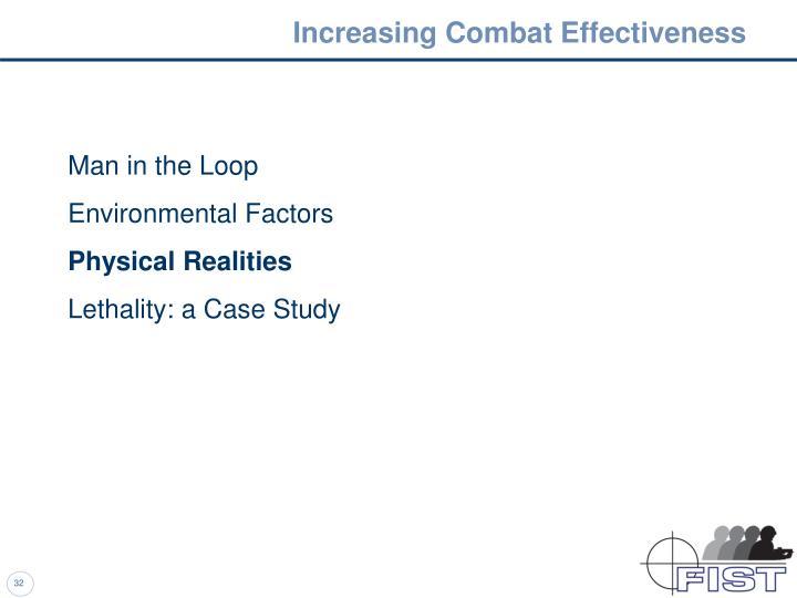 Increasing Combat Effectiveness