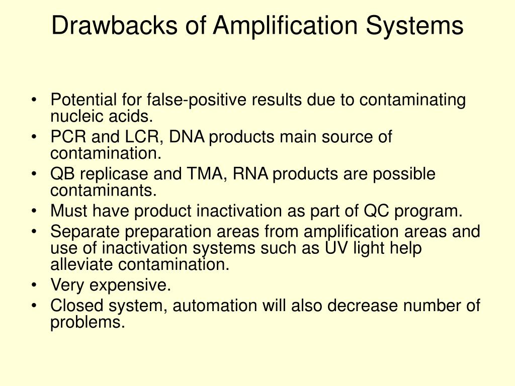 Drawbacks of Amplification Systems
