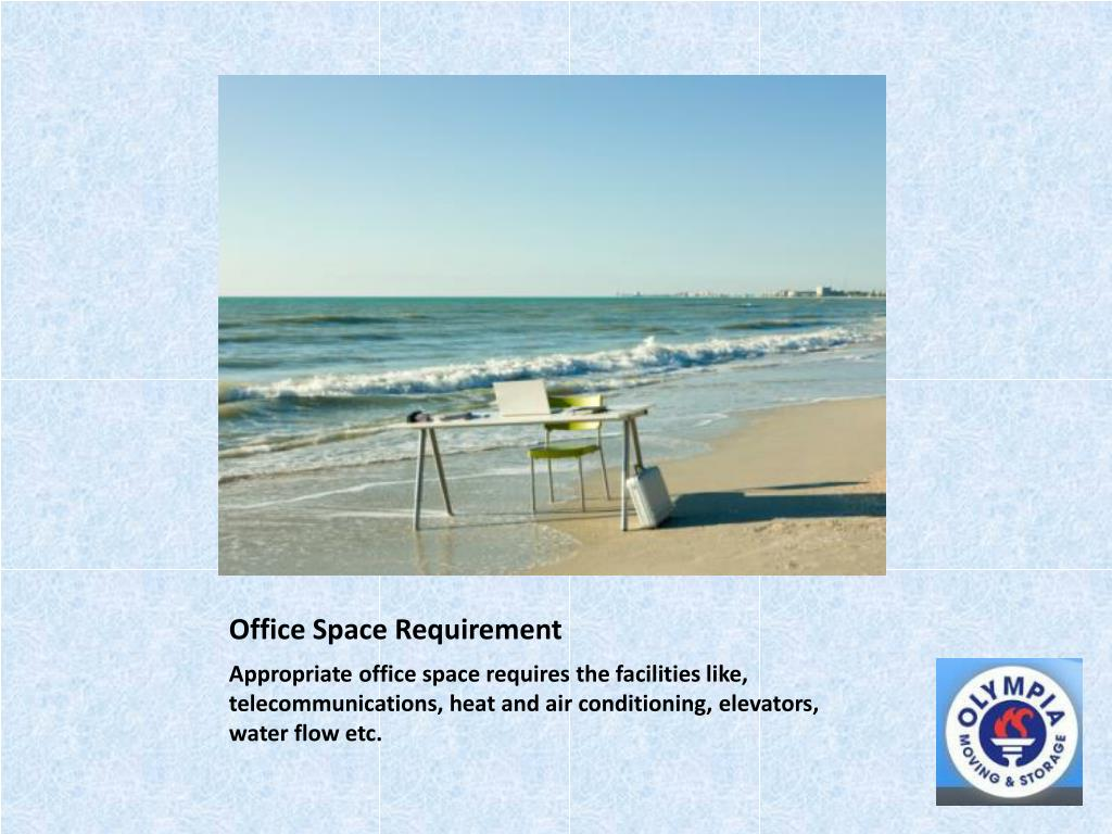 Office Space Requirement