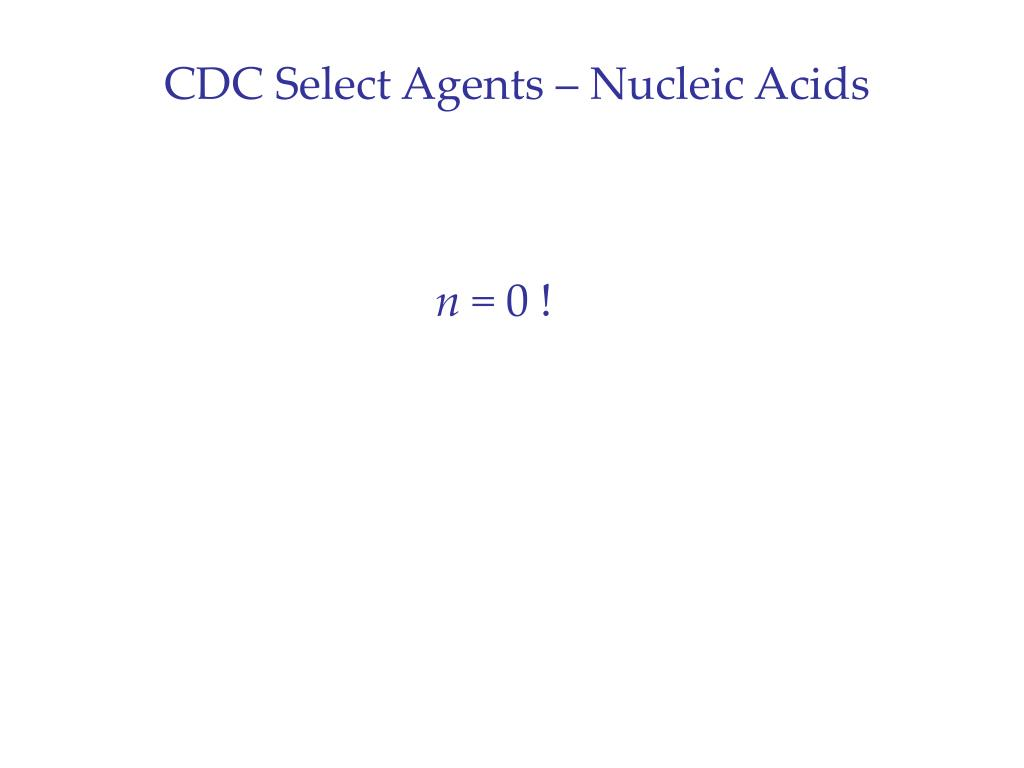 CDC Select Agents – Nucleic Acids