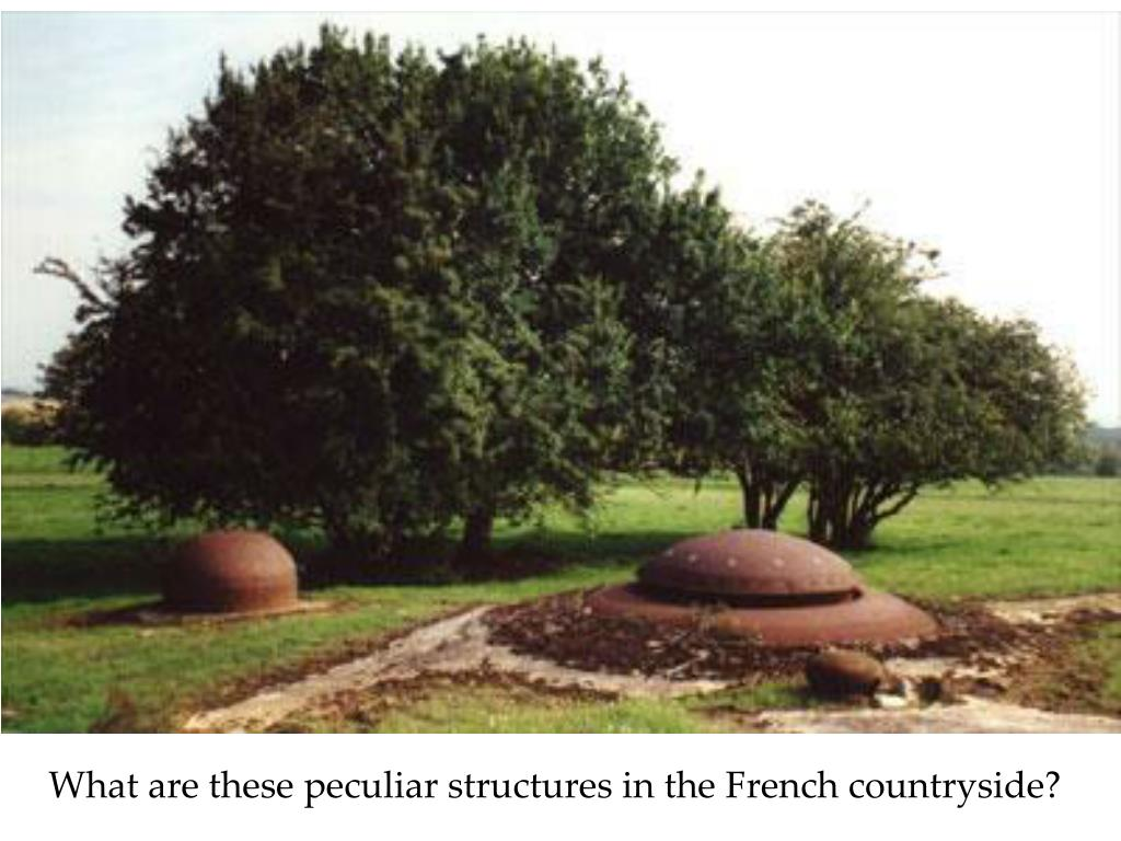 What are these peculiar structures in the French countryside?