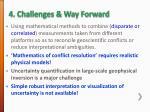 4 challenges way forward