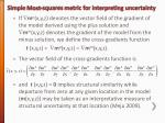 simple most squares metric for interpreting uncertainty