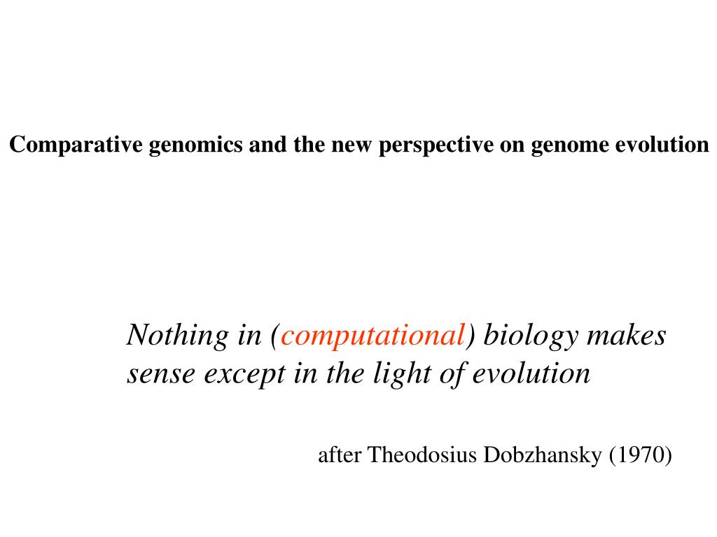 Comparative genomics and the new perspective on genome evolution