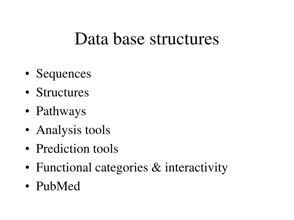 Data base structures