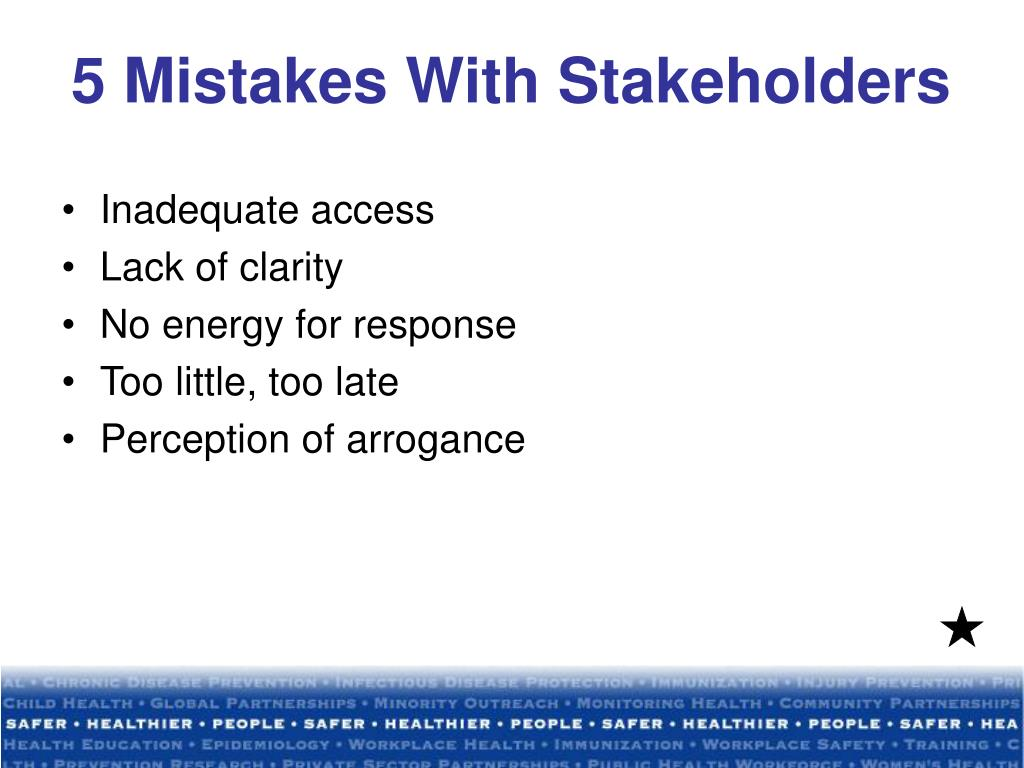 5 Mistakes With Stakeholders