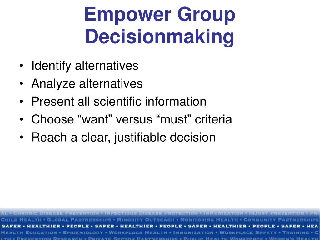 Empower Group Decisionmaking