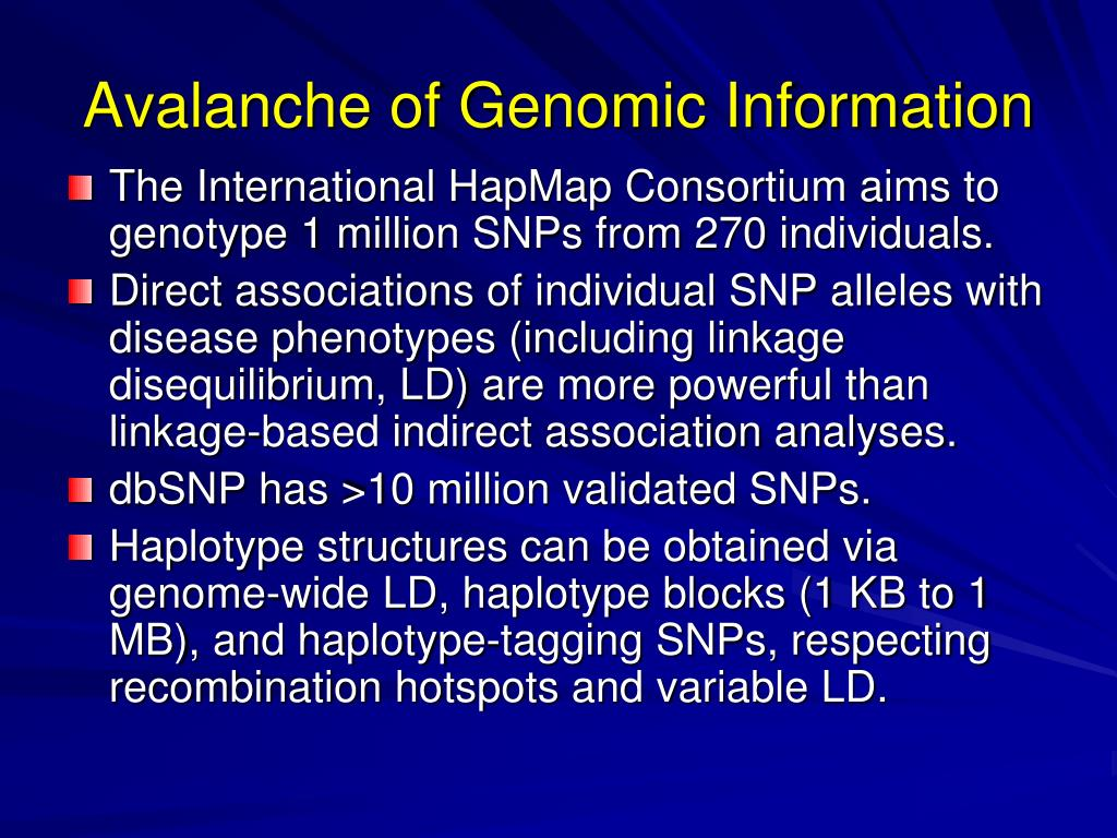 Avalanche of Genomic Information