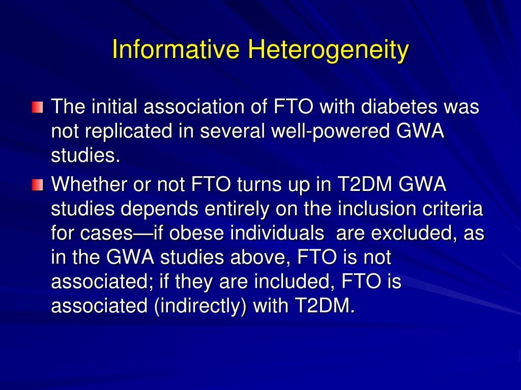 Informative Heterogeneity