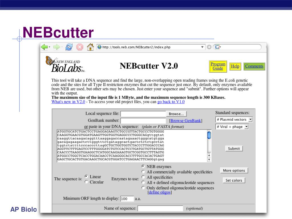 NEBcutter