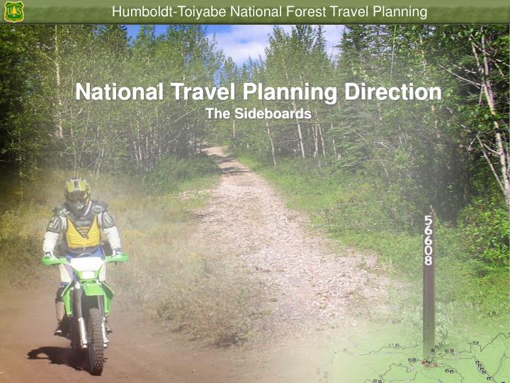 National Travel Planning Direction