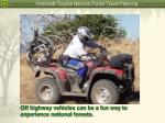 off highway vehicles can be a fun way to experience national forests