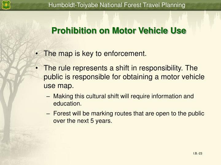 Prohibition on Motor Vehicle Use