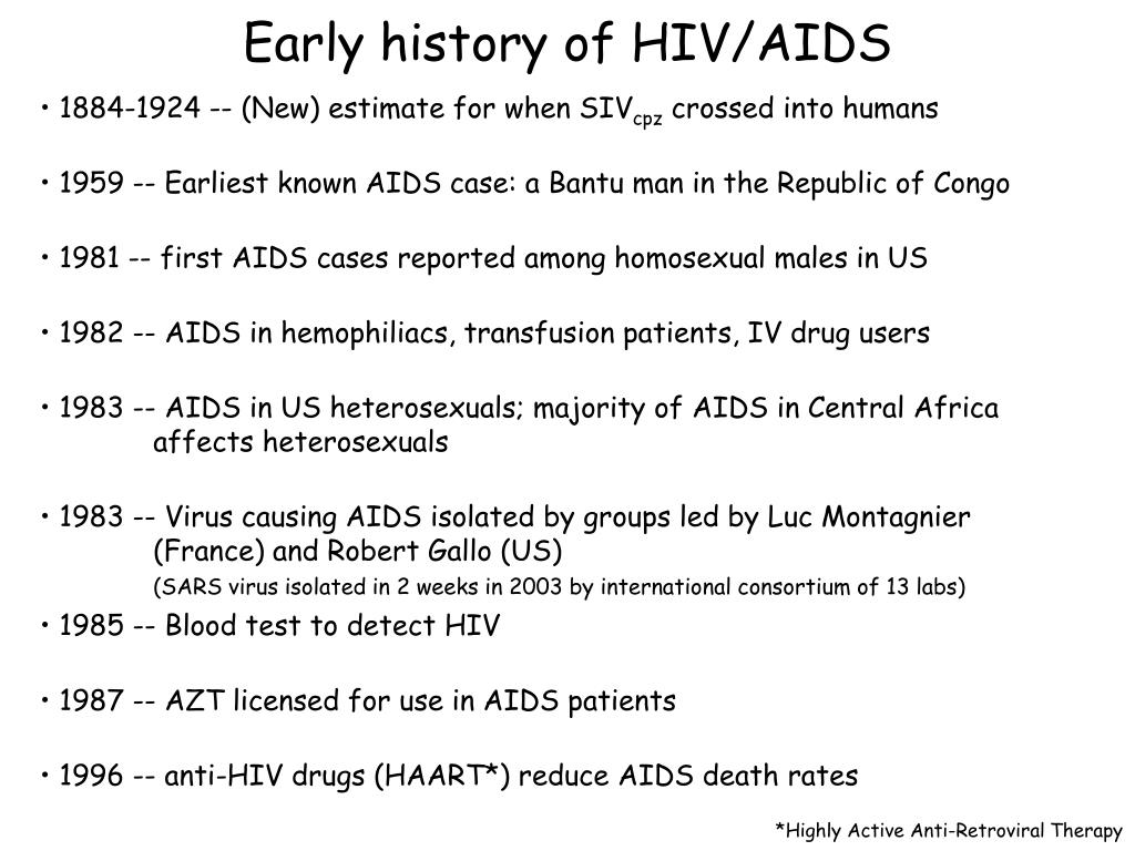 Early history of HIV/AIDS