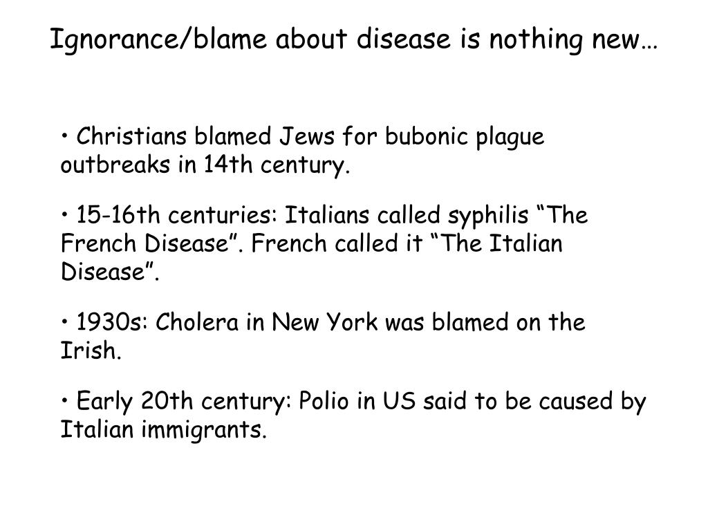 Ignorance/blame about disease is nothing new…